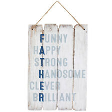 FATHER Hanging Wooden Wall Plaque Sign Birthday Father's Day Gift