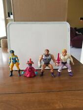 Lot of 4 He-Man Vintage Mattel MOTU Figures Evil-Lyn, Fisto, Orko, & Prince Adam