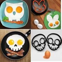 Cute Owl Rabbit Skull Silicone Fried Egg Mold Pancake Egg Ring Fun Cooking Tool