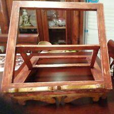 Leggio da tavolo in legno porta libro,per spartiti,menù da appoggio color noce