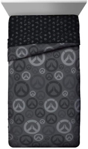 Jay Franco Overwatch Heroes Twin Comforter - Super Soft Kids Bedding - Fade Fill