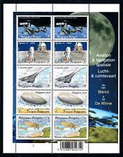[77089] Belgium 2009 Aviation Navigation Zeppelin Moon Landing Souv. Sheet MNH
