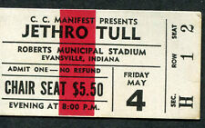 Original 1973 Jetrho Tull Concert Ticket Stub Evansville IN A Passion Play Tour