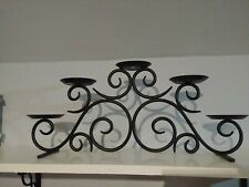 Partylite hearthside black wrought iron. Holds 5 pillar or ball candles