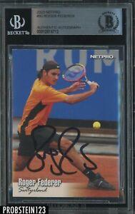 Roger Federer Signed 2003 Netpro Tennis #90 AUTO BGS BAS Authentic