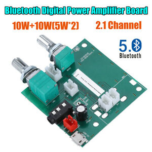 Bluetooth 5.0 Digital Board Module DC 5V 20W 2.1 Channel 3D Surround Amplifier