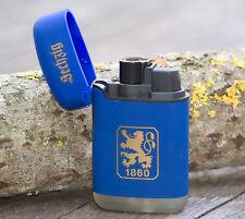 V-Fire Feuerzeug Easy Torch Rubber TSV 1860 München (Löwen) blau- Jet Flame