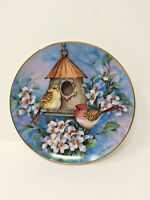 "Royal Doulton ""Scarlet Finch Flat"" by Carolyn Shores Wright Decorative Plate"