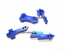 4pcs 25T M3 Assorted Metal RC Servo Arm Horn Futaba Savox Xcore HSP 007-04701A-D