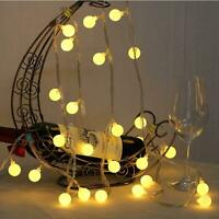 30LED Fairy String Light Round Ball Blubs Wedding Birthday Home Decoration Lamp