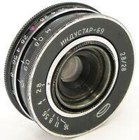 ⭐SERVICED⭐ INDUSTAR-69 2.8/28 Russian Wide Angle Pancake Lens M39 MMZ-LOMO #74