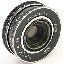 ⭐SERVICED⭐ INDUSTAR-69 2.8/28 Russian Wide Angle Pancake Lens M39 MMZ-LOMO #26