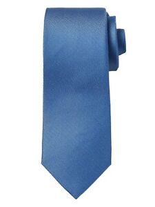 NWT Banana Republic 100% Silk Bright Blue Oxford Nanotex Tie Stain Resistant