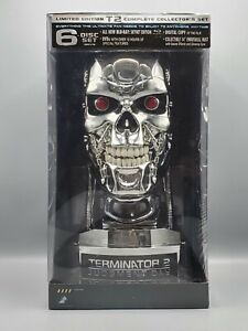 Terminator 2: Judgment Day (Blu-ray) 6-Disc Limited T-800 Endoskull Bust NEW