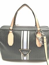 GUESS Handbag   Beaumont Coal w G Logo Satchel Tote Shoulder Purse 9d78021c8da52
