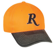 Remington Hunter Safety Blaze Orange Cap Low Crown Adjustable Hat Hunting F2