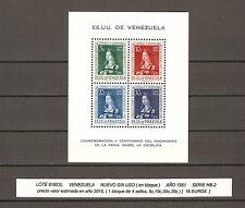 VENEZUELA, sello en bloque, año 1951, nuevo, HB-2
