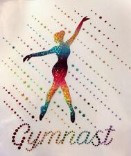 Hotfix Iron on Gymnast Hologram Spangles design for Leotard, Hoodie or T-shirt