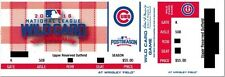 "CHICAGO CUBS 2016 ""PHANTOM"" NL WILDCARD GAME TICKET @ WRIGLEY FIELD"