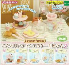 Epoch Gashapon Capsule Sylvanian Families Cake Shop Bakery Part 2 Full Set