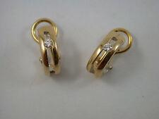 edle Brillant Ohrringe Gold 585