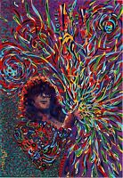 Jimmy Paige Led Zepplin oil on canvas from artist art Image picture poster