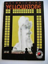 """Vintage Travel Booklet for """"Yellowstone"""" via Northern Pacific Rail Way *"""
