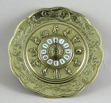 Reloj de pared latón oro Horóscopo con signo del zodiaco barroca CUARZO REDONDO