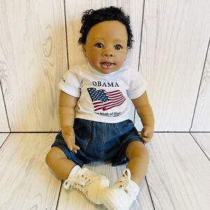 "The Ashton-Drake Galleries So Truly Real Vinyl Doll ""Obama Birth of Hope"""