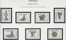 VIETNAM 724/730** ART , BRONZE, 1986 Vietnam 1677-1683 Artifacts, Hung-Voung MNH