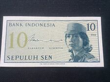 Banknote 10 Bank Indonesia Sepuluh Sen Rupiah DOF 1964 AsIan Indonesian Note