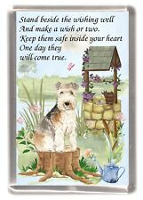 "Lakeland Terrier Dog Large Fridge Magnet (60 x 90mm) ""WISHING WELL POEM"""