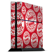 Sony Playstation 4 Folie Aufkleber FC Bayern München Logos auf rotem Hintergrund
