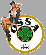OSSA left Pin Up gauche Sticker vinyle laminé