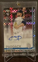 2019 Topps Chrome Chris Paddack Xfractor RC Auto SP /125 San Diego Padres Rookie