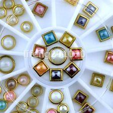 nails half-pearl pearl wheel for metal 3d nail art decoration nail supplies tool