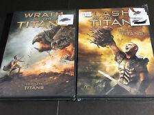 CLASH OF THE TITANS + WRATH OF THE TITANS  ( DVD ) 2 DVD SET