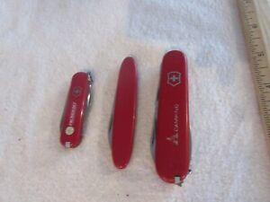 Lot of 3 Victorinox Swiss Army knives - Pocket Pal - Camper - Rally