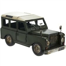 VINTAGE LAND ROVER STYLE 4 X 4 METAL TIN ORNAMENT MODEL REDUCED