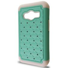 For Samsung Galaxy Ace NXT Case - Diamond Bling Style Hybrid Tough Phone Cover