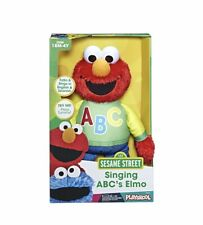 Sesame Street Singing ABC Elmo Figure Plush Toy - Learning Alphabet 18+ Months