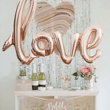 ✧ Foil LOVE Party Script Balloon ✧ Party Lounge ✧ Rose Gold, Gold, Pink ✧