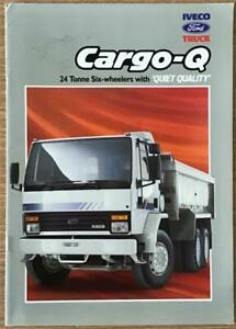 IVECO FORD CARGO Q Commercial Sales Brochure 1991 #BRI/91 24 TONNE SIX WHEELERS