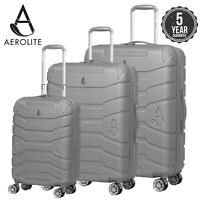 Aerolite Lightweight ABS Hard Shell Carry On Hand Cabin Luggage Suitcase Bags