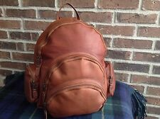 VINTAGE 1990's COGNAC BASEBALL GLOVE LEATHER BACKPACK RUCKSACK BAG R$595