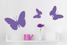 Wandaufkleber: 3x Schmetterling 2 Größen Wohnzimmer Deko Schlafzimmer WandTattoo