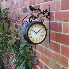 Orologi e sveglie da casa nera a batteria in metallo