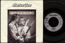 "STATUS QUO Dreamin'  7"" Ps, B/W Long Legged Girls, Quo 21 (Vg/Vg, Vinyl Has Ligh"