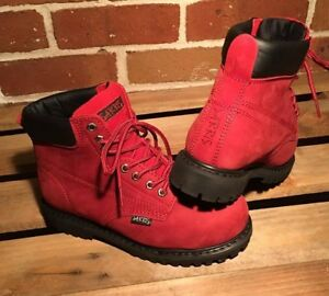 NEW Womens Lace Up Safety Work Boots 0495