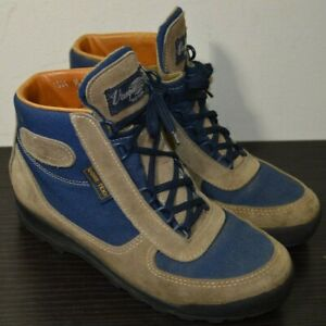 VASQUE Mens Size 8 M Tan Suede Leather & Navy Blue Gore-Tex Hiking Boots 7534